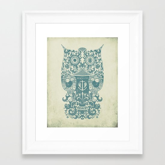 The Old Owl - Vintage edition Framed Art Print