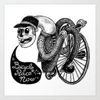Bicycle Race Now! Art Print