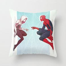 Worlds Collide Throw Pillow