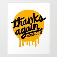 THANKS AGAIN Art Print