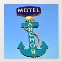 Anchor Motel (Square) Canvas Print