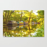 Wey Navigation Canal Canvas Print