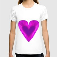 WEB OF LOVE Womens Fitted Tee White SMALL