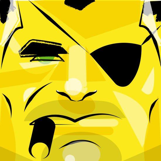 Post it portrait: Nick Fury     Canvas Print
