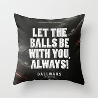 BallWars: Poster Throw Pillow
