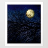 Blue Moon Vertical Art Print