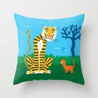 The Tiger And The Tom Ca… Throw Pillow