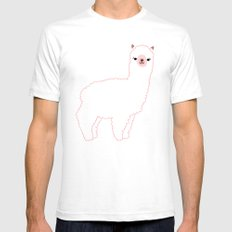 The Alpacas II Mens Fitted Tee White SMALL