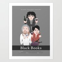 Black Books Art Print