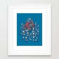 Blue Horde Framed Art Print