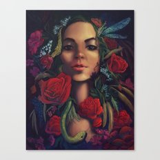 Garden Snake Canvas Print