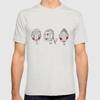 Faces Mens Fitted Tee Silver SMALL