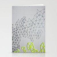 Neon Geometric Stationery Cards