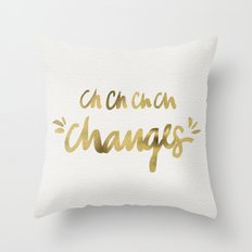 Bowie – Gold Ink Throw Pillow