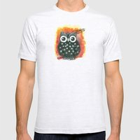 Little Owl Mens Fitted Tee Ash Grey SMALL