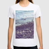 sea coast Womens Fitted Tee Ash Grey SMALL