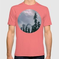 Cascade Winter Mountain Mens Fitted Tee Pomegranate SMALL