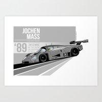 Jochen Mass - 1989 Le Ma… Art Print