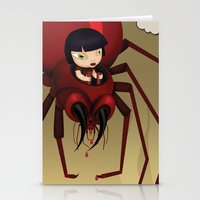 Travel by spider Stationery Cards