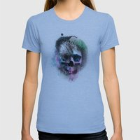 A Skull Womens Fitted Tee Athletic Blue SMALL