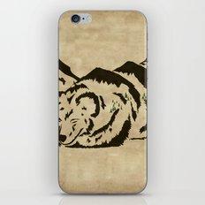 Sleepy Bear Mountain iPhone & iPod Skin
