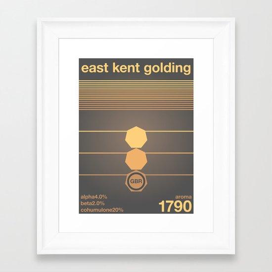 east kent golding single hop Framed Art Print