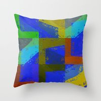 Colorful Truth. Blue. Throw Pillow