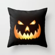 Throw Pillow featuring Halloween by Nicklas Gustafsson