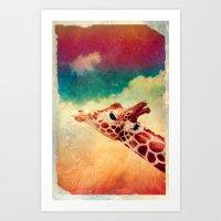 Giraffe - for iphone Art Print