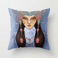 Mongolian Princess Throw Pillow
