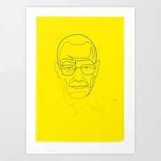 One Line Breaking Bad: Heisenberg Art Print