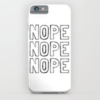 iPhone Cases featuring Nope by M Studio