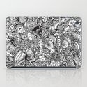 Detailed rectangle, black and white  iPad Case