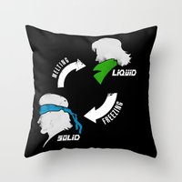 Metal Gear: Solid Liquid States Throw Pillow