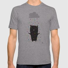 The Happy Rain Mens Fitted Tee Athletic Grey SMALL