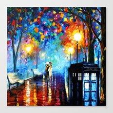 STARRY NIGHT TARDIS Canvas Print