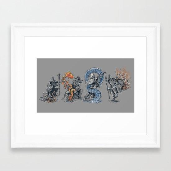 earth - fire - water - (bad) air Framed Art Print