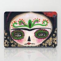 Frida The Catrina And The Devil - Dia De Los Muertos Mixed Media Art iPad Case