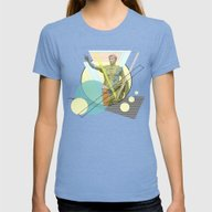 Augustus The Emperor Womens Fitted Tee Tri-Blue SMALL