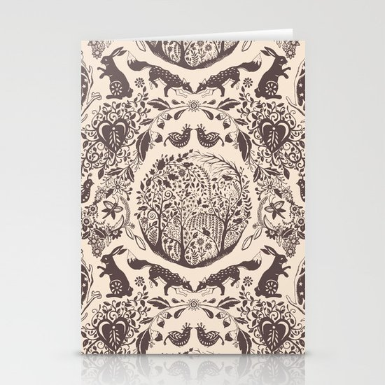 Forest Pattern Stationery Card