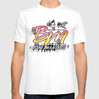 Bike Maniacs Mens Fitted Tee White SMALL