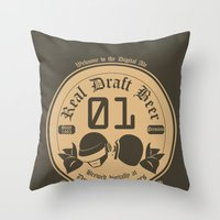 Draft Punk Throw Pillow