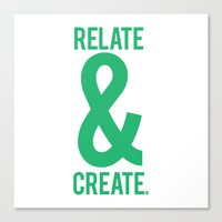 Relate & Create (Green) Canvas Print