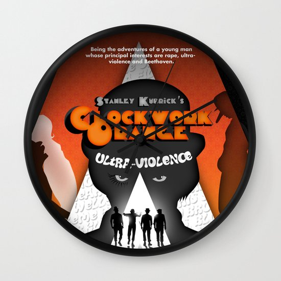 A Clockwork Orange Wall Clock