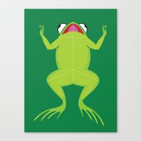Knife The Frog Canvas Print