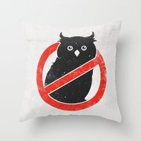 No Owls Throw Pillow