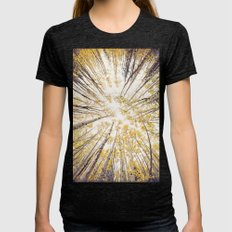 fall looking up Womens Fitted Tee Tri-Black SMALL