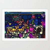 Stained Glass Jewels Art Print