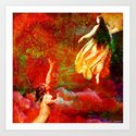 The farewells of the siren to the angel Uriel Art Print