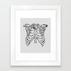 Ribcage Tattoo Framed Art Print